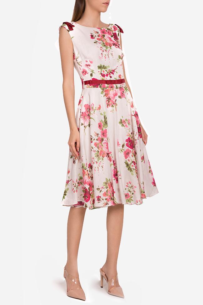 Floral print silk-blend midi dress Oana Manolescu image 0
