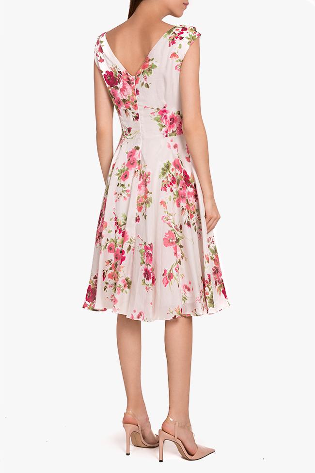Floral print silk-blend midi dress Oana Manolescu image 2
