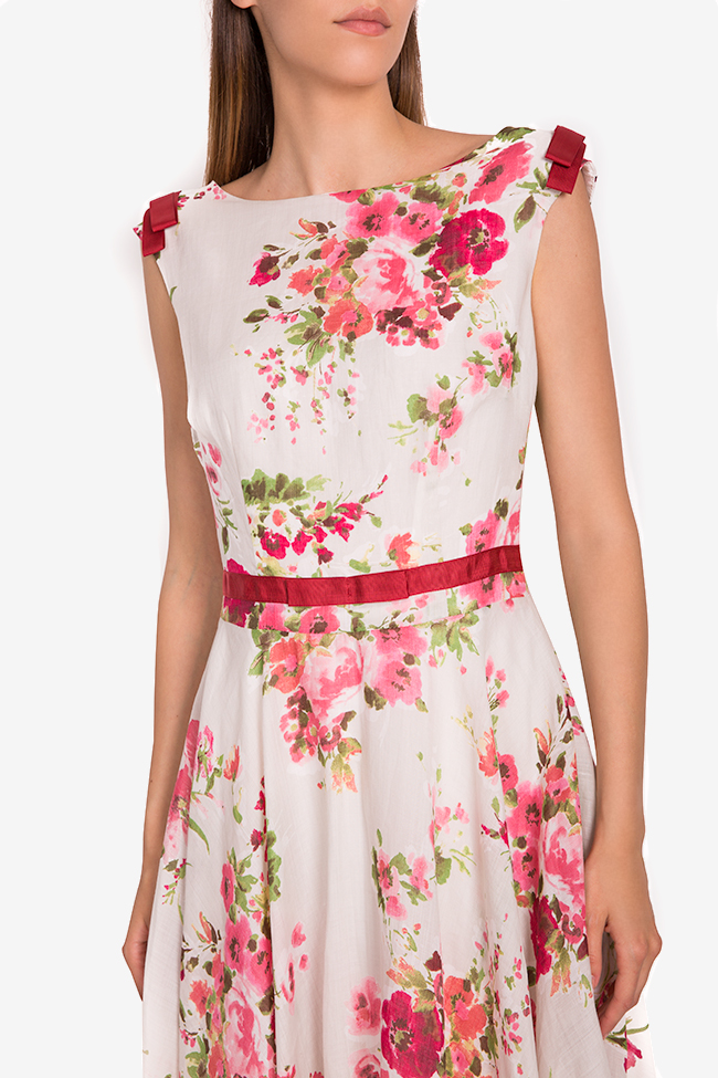 Floral print silk-blend midi dress Oana Manolescu image 3