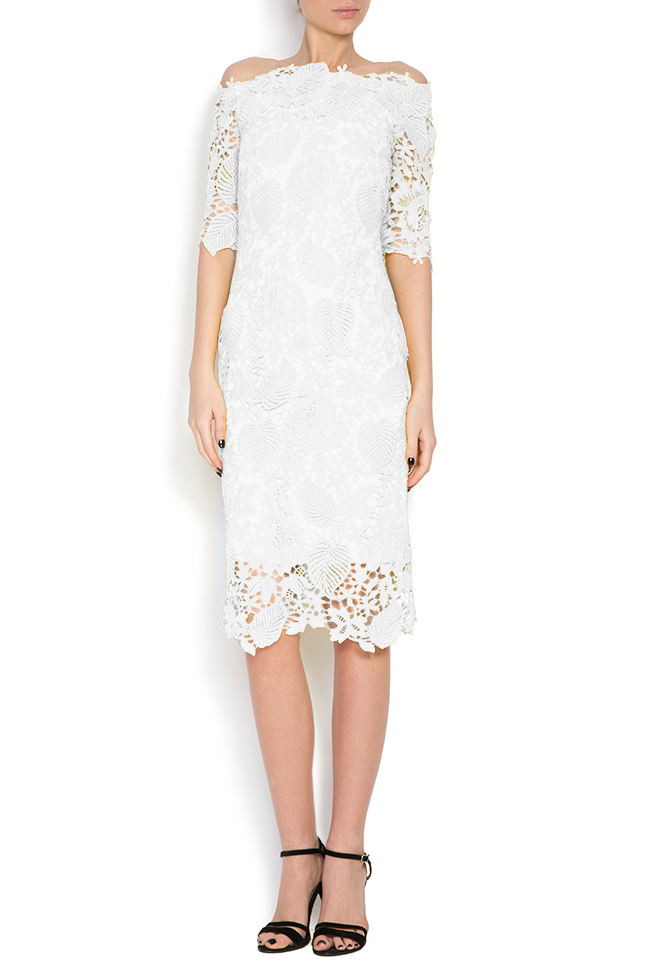 Antonia off-the-shoulder lace midi dress Bien Savvy image 0