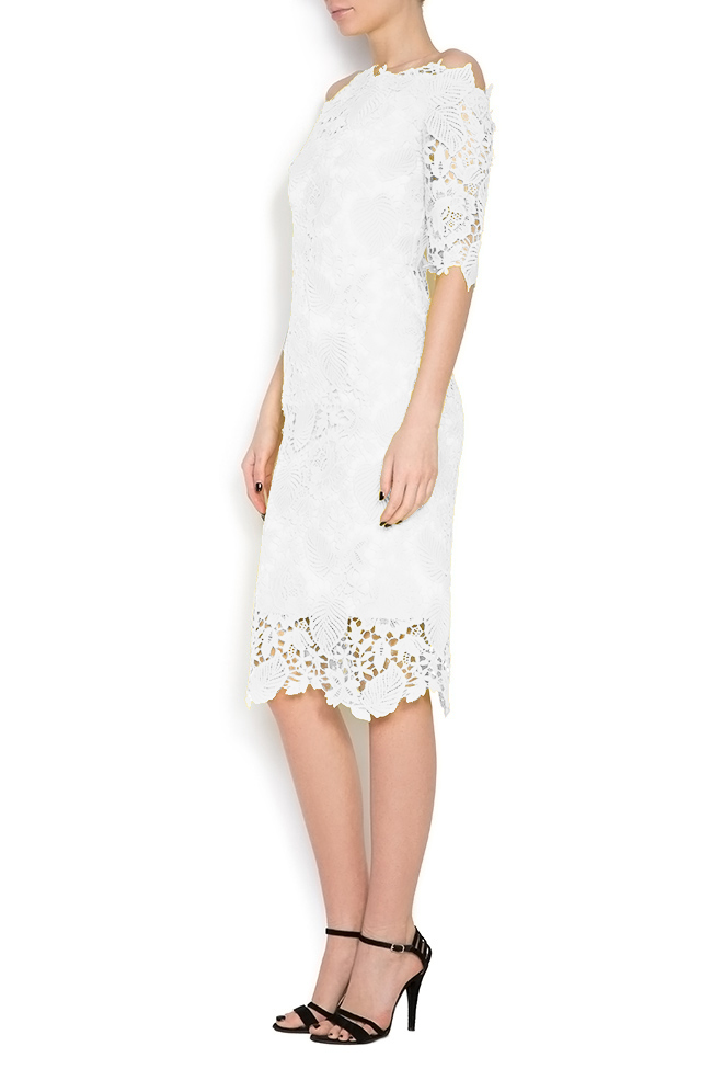 Antonia off-the-shoulder lace midi dress Bien Savvy image 1