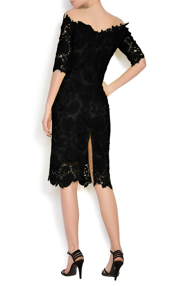 Antonia off-the-shoulder lace midi dress Bien Savvy image 2