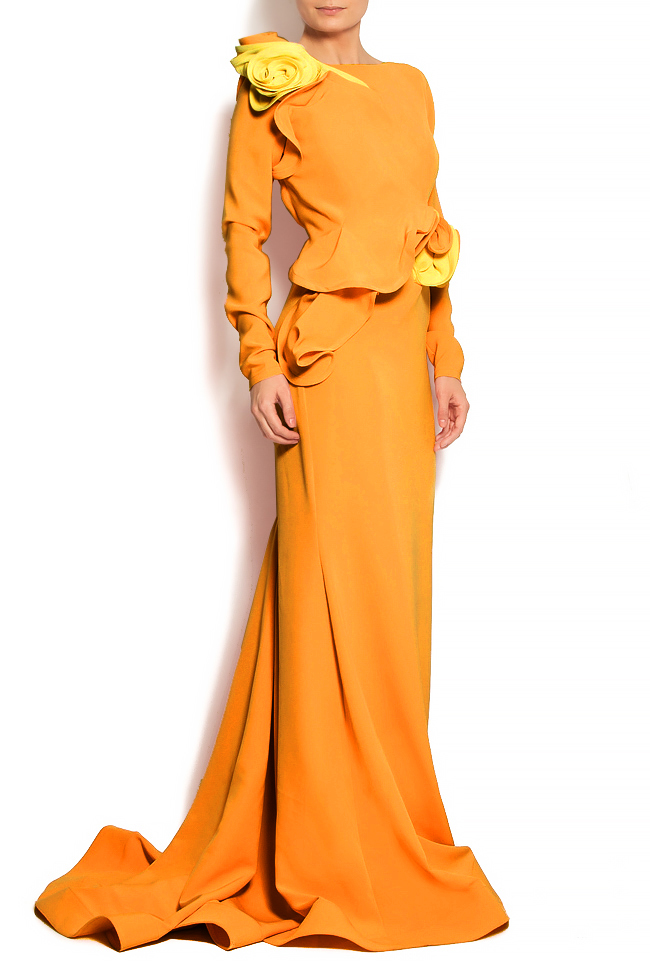 'Volume of Delicacy' ruffled crepe gown Bien Savvy image 0