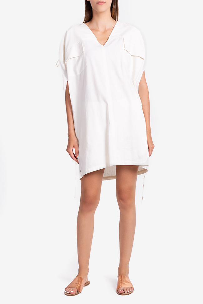 Linen-blend mini dress NARRO image 1