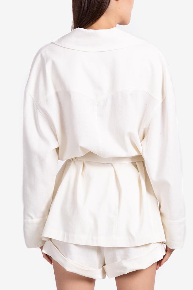 Belted linen-blend jacket  NARRO image 2