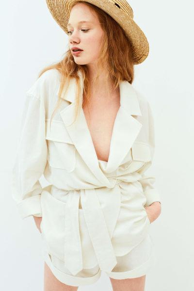 Belted linen-blend jacket  NARRO image 4