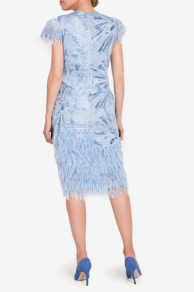 Carmen fringed silk-blend organza midi dress Ramona Belciu image 2