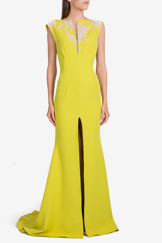 Embellished crepe gown Nicole Enea image 0