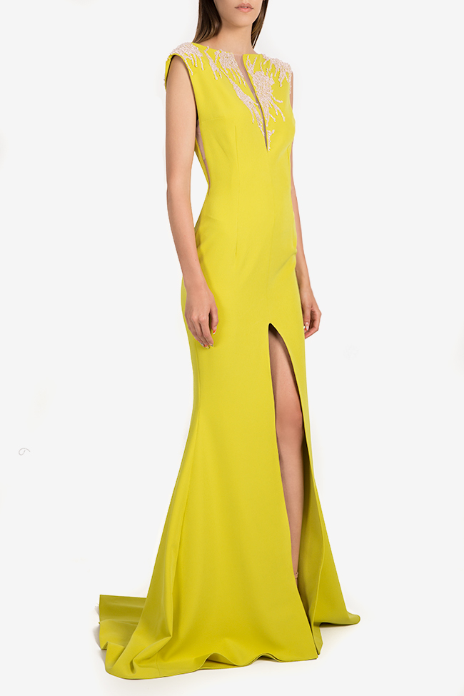 Embellished crepe gown Nicole Enea image 1