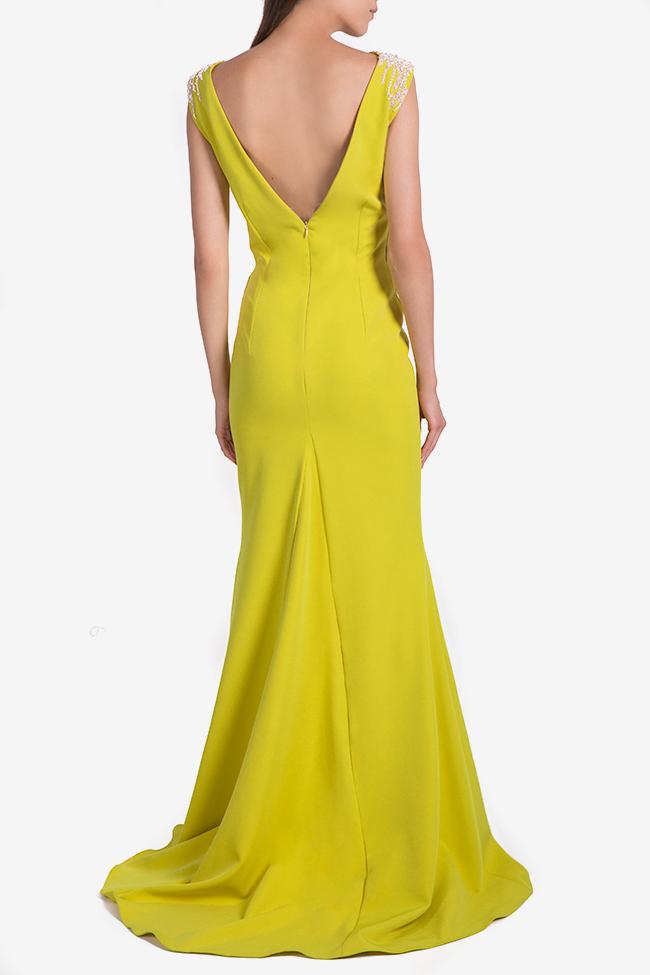 Embellished crepe gown Nicole Enea image 2