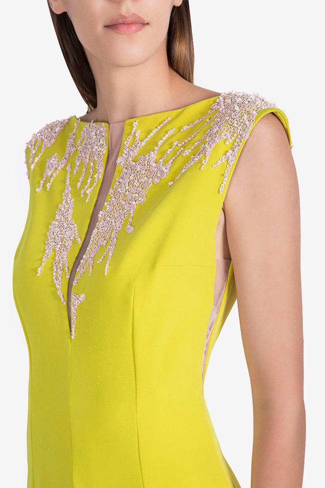 Embellished crepe gown Nicole Enea image 3