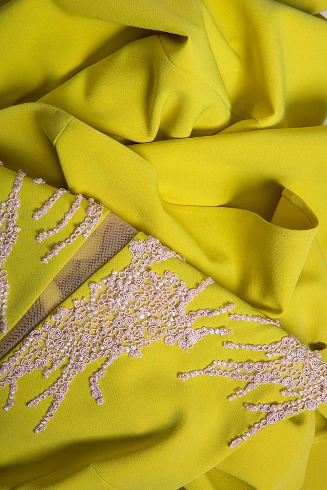Embellished crepe gown Nicole Enea image 4