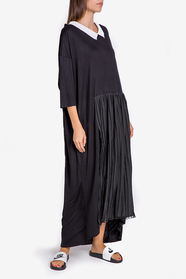 Pleated Ceremony asymmetric cotton-blend jersey dress Studio Cabal image 0