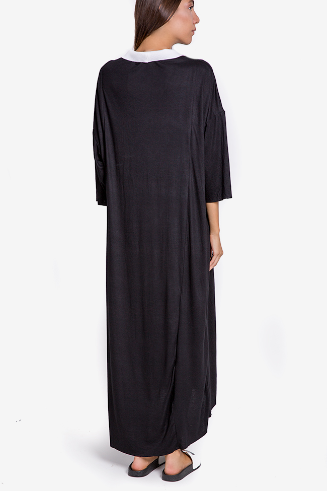 Pleated Ceremony asymmetric cotton-blend jersey dress Studio Cabal image 2