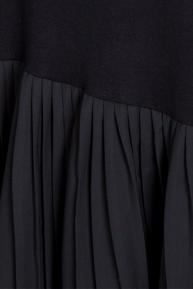 Pleated Ceremony asymmetric cotton-blend jersey dress Studio Cabal image 5
