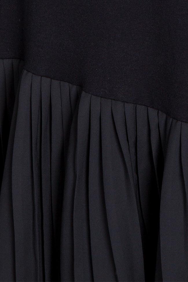 Rochie asimetrica din jerseu din amestec de bumbac cu pliseuri Pleated Ceremony  Studio Cabal imagine 5
