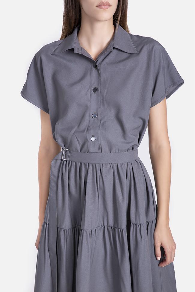 Rochie din rayon cu cordon detasabil Undress imagine 3