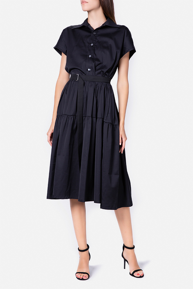 Belted cotton midi dress Undress image 0