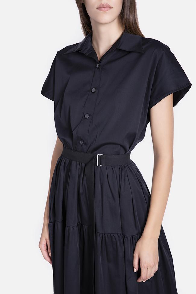 Belted cotton midi dress Undress image 3