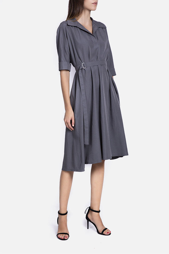Belted cotton midi dress Undress image 0