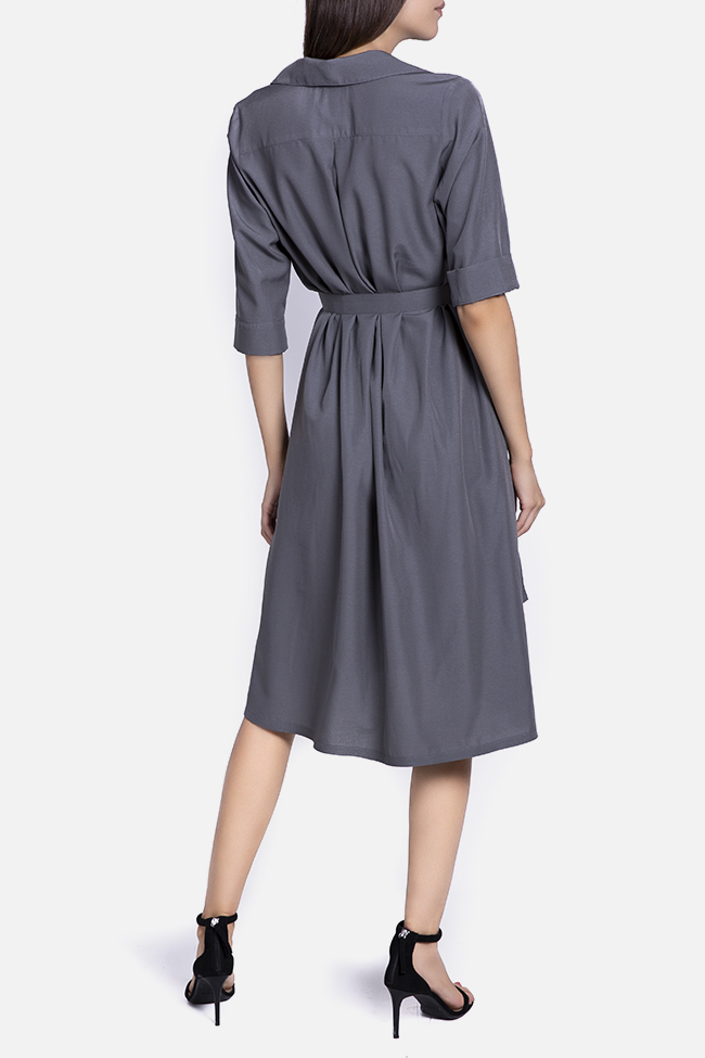Belted cotton midi dress Undress image 2