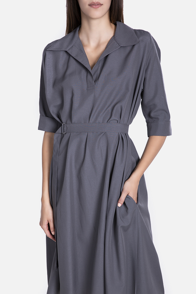 Belted cotton midi dress Undress image 3
