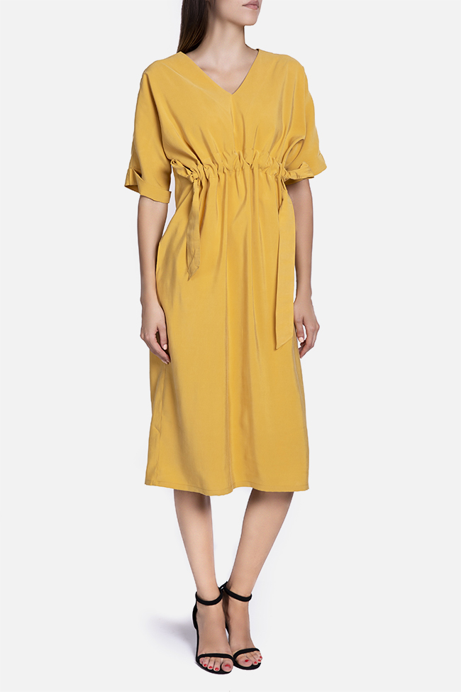 Knotted modal midi dress Undress image 1