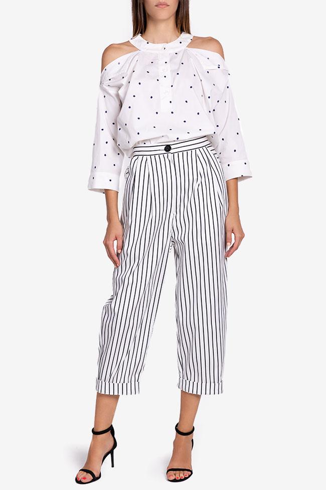 Pantaloni din bumbac cu dungi Undress imagine 1