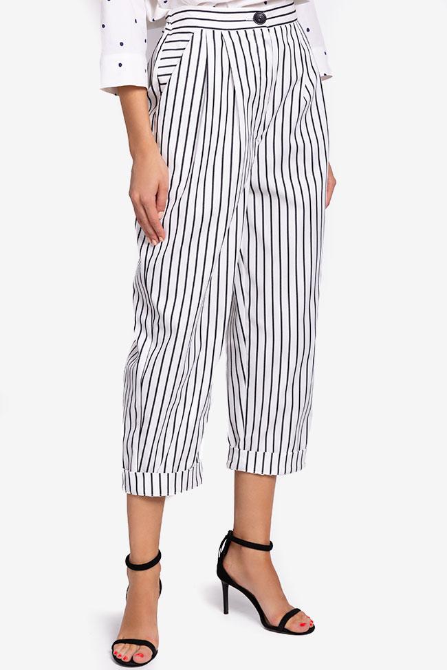 Pantaloni din bumbac cu dungi Undress imagine 0