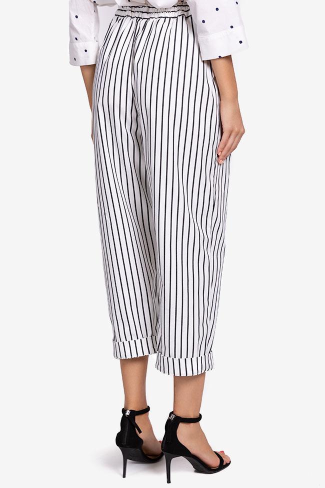 Striped cotton pants Undress image 2