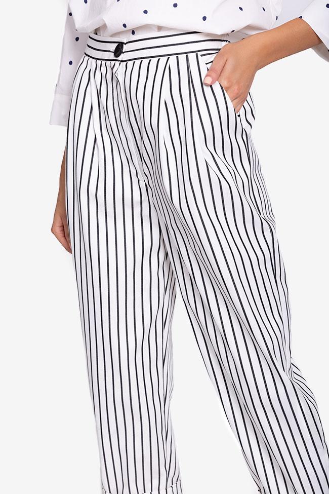 Pantaloni din bumbac cu dungi Undress imagine 3
