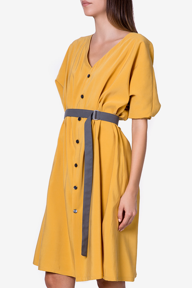 Belted cotton-blend midi dress Undress image 0