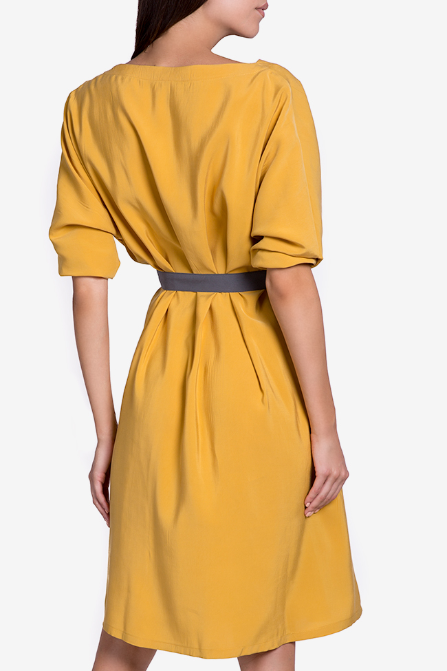 Belted cotton-blend midi dress Undress image 2