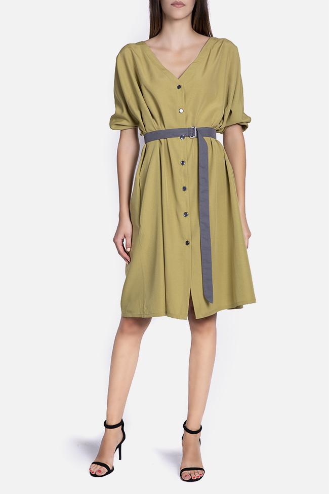 Belted cotton-blend midi dress Undress image 1