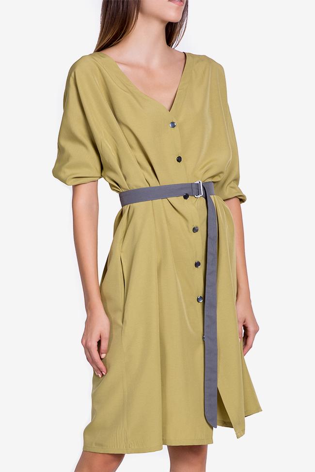 Belted cotton-blend midi dress Undress image 0