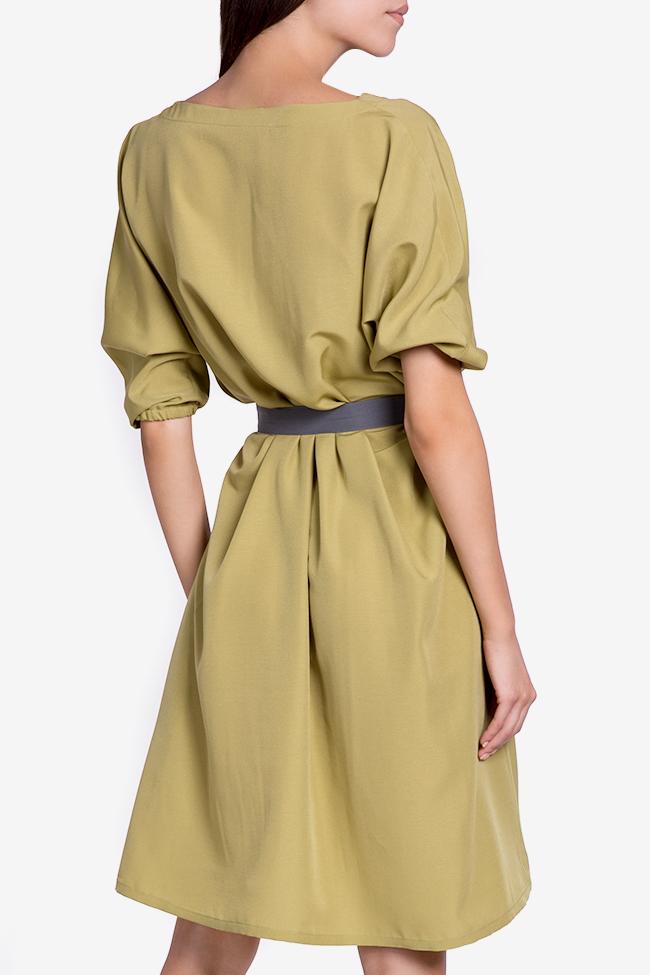 Belted cotton-blend midi dress Undress image 2