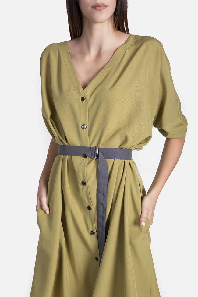 Belted cotton-blend midi dress Undress image 3