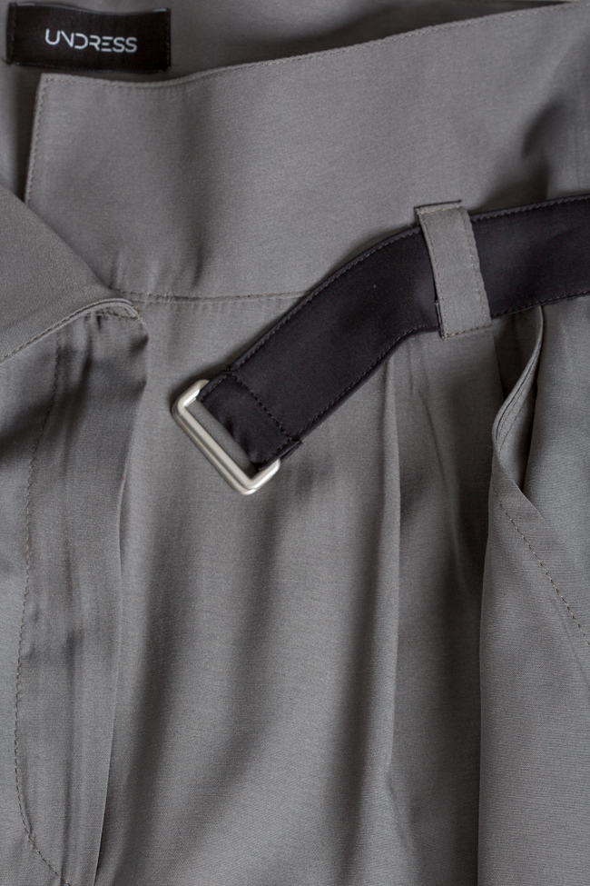 Belted cropped gabardine tapered pants Undress image 4