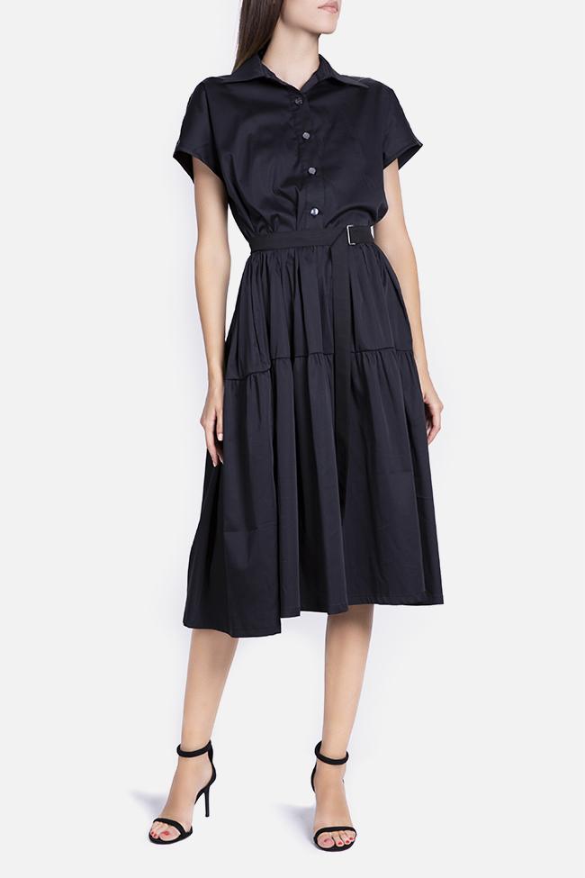 Belted cotton midi dress Undress image 1