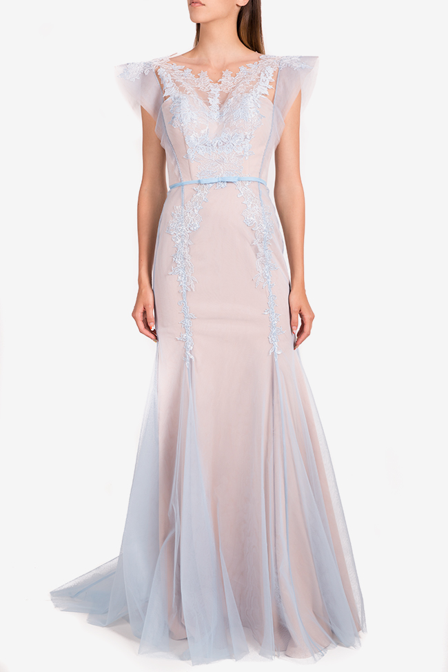 Embroidered tull gown Nicole Enea image 1