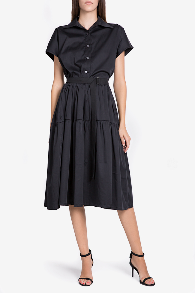 Belted cotton midi dress Undress image 1