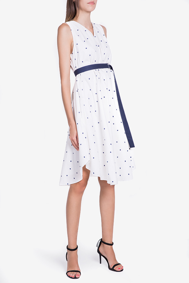 Belted polka-dot midi dress Undress image 0