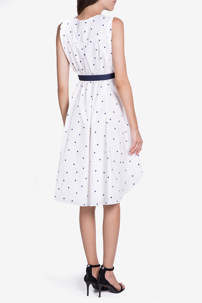 Belted polka-dot midi dress Undress image 2