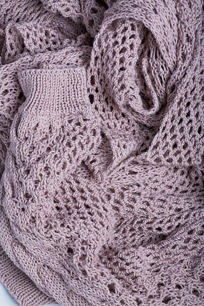 Oversized cutout cotton knitted sweater NARRO image 5