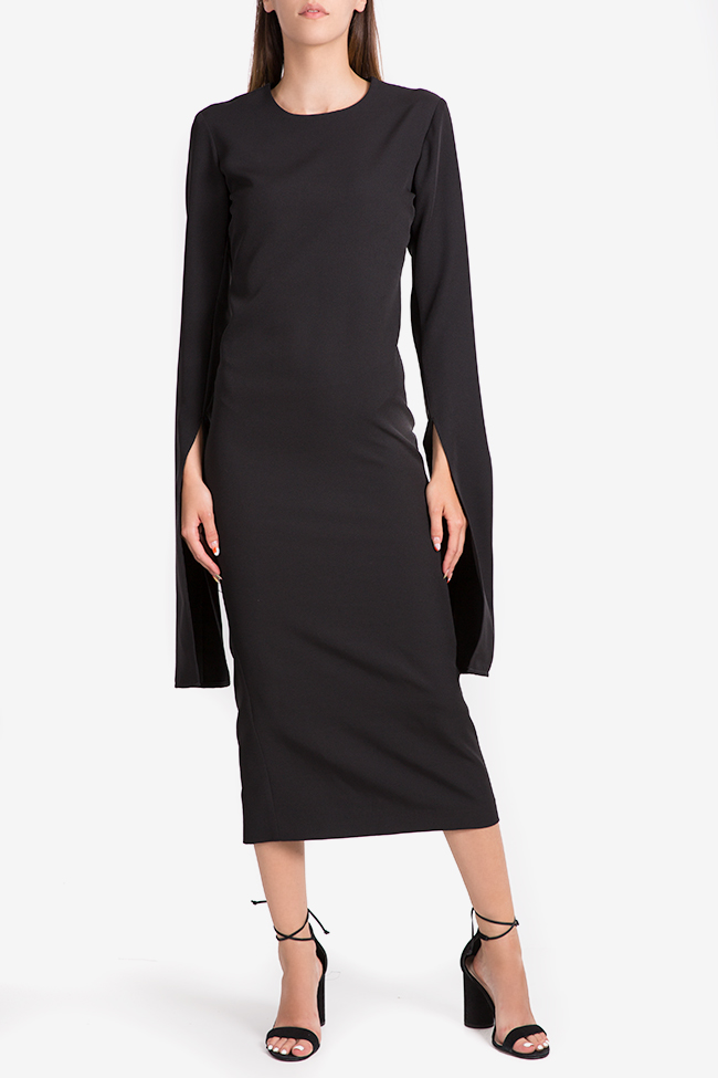 Cape-effect cady midi dress NARRO image 0