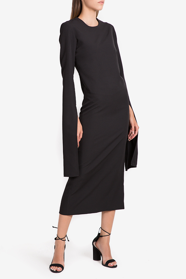 Cape-effect cady midi dress NARRO image 1