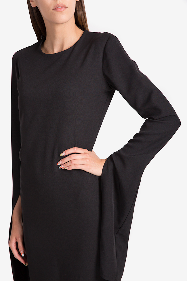 Cape-effect cady midi dress NARRO image 3