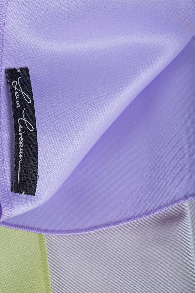 Robe asymétrique en taffetas Lena Criveanu image 4