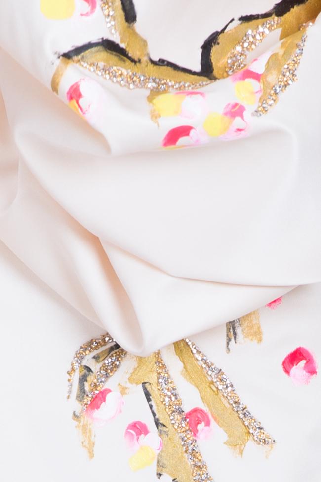 Robe en taffetas avec manchettes détachables peinte à la main Lena Criveanu image 5
