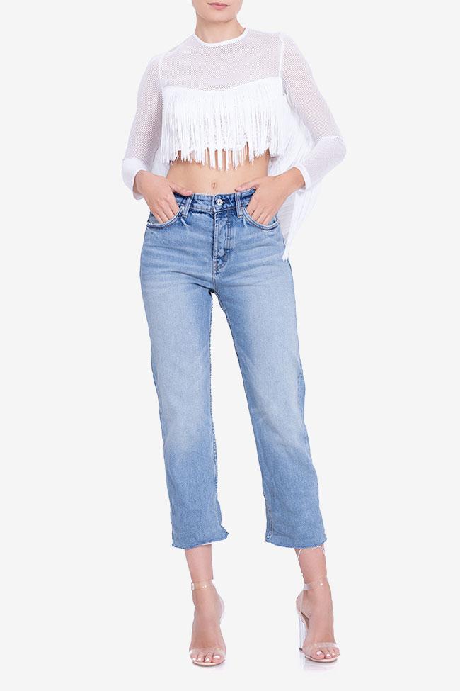 Bluza scurta din plasa cu franjuri BADEN 11 imagine 1